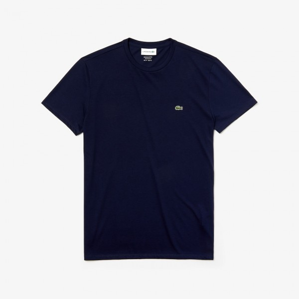 Lacoste t-shirt ronde hals logo navy th6709