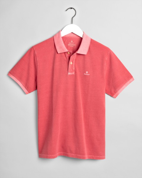 Gant polo korte mouw washed rood 2052028-640