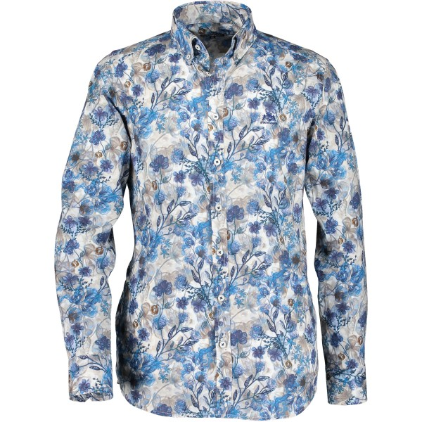 State of Art overhemd shirt print blauw 29860-5784