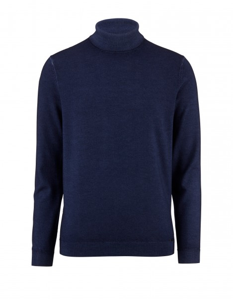 Olymp Level 5 pullover coltrui blauw 535145-18