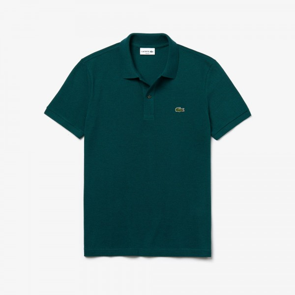 Lacoste polo Slim fit effen pique groen PH4012-YYX
