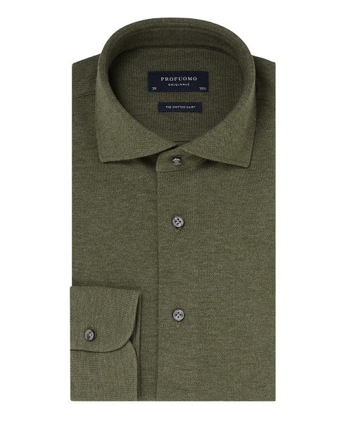 Profuomo Originale The Knitted shirt groen PP0H0A051