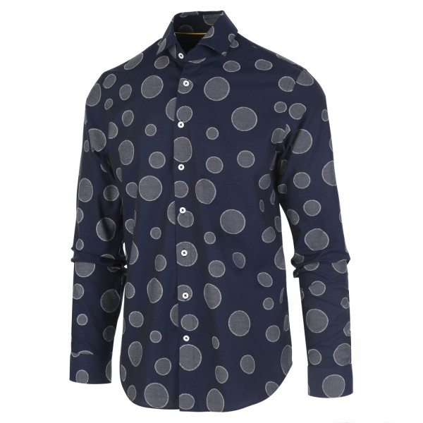Blue Industry overhemd shirt stip navy1155.92