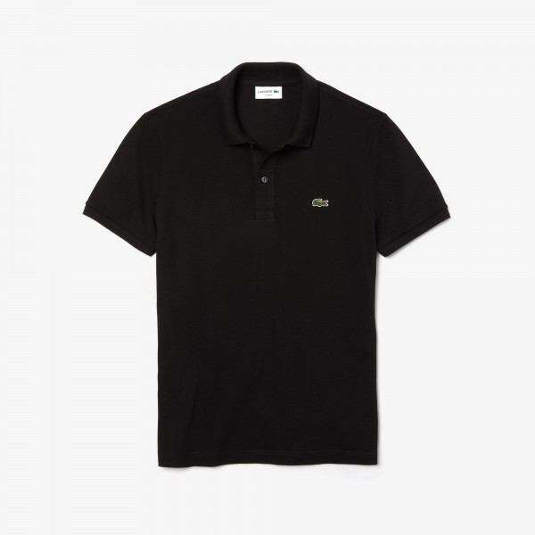 Lacoste polo Slim fit effen pique Zwart PH4012