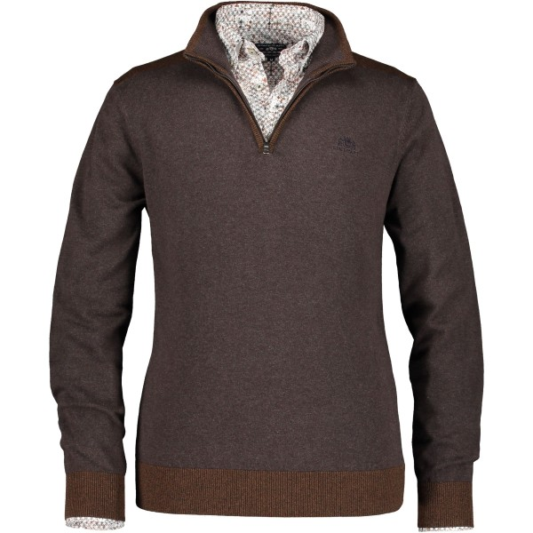 State of Art pullover rits bruin 29581-8989