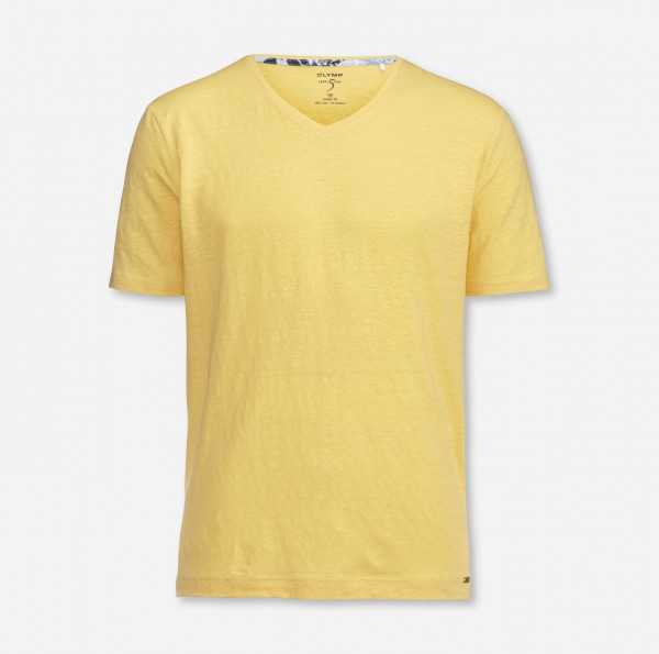 Olymp Level Five t-shirt Body fit geel 566152