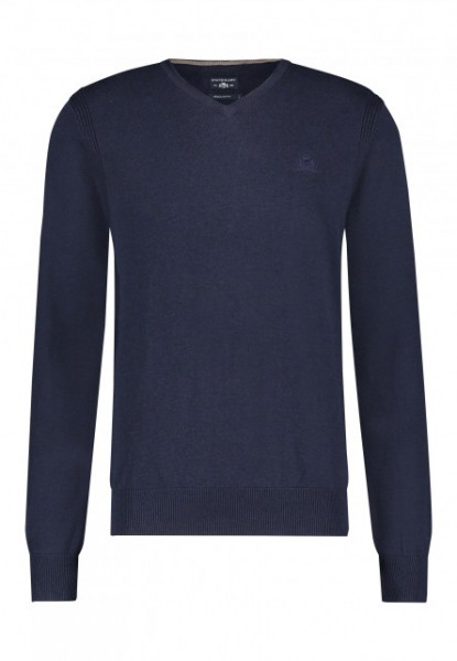 State of Art pullover v-hals blauw 20093