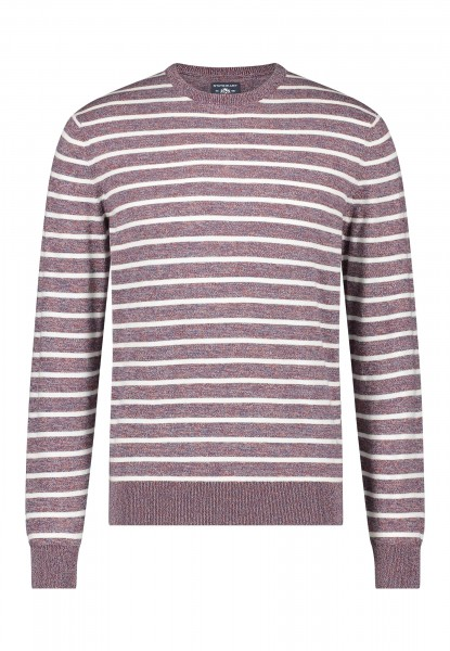 State of Art pullover ronde hals streep bordeaux 11153
