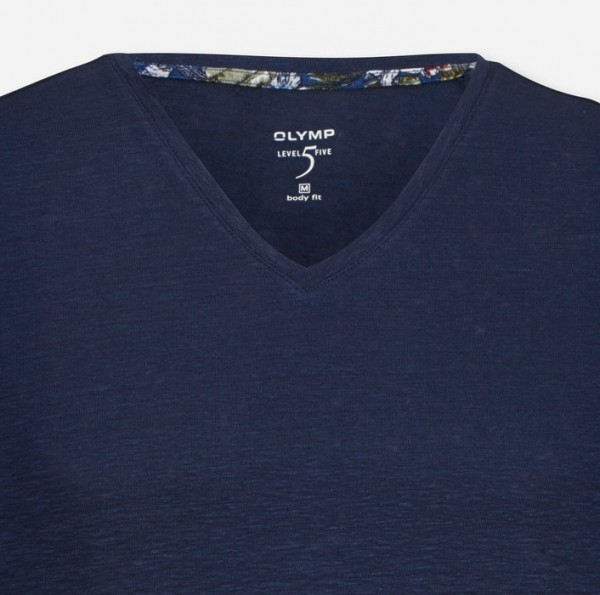 Olymp Level Five t-shirt Body fit navy 566152