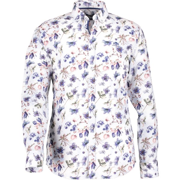 State of Art overhemd shirt print bloem 29122-6957