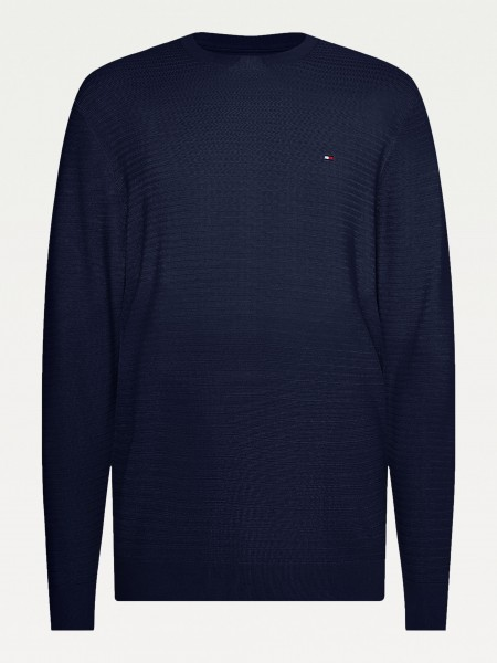 Tommy Hilfiger pullover structure navy mw0mw17342