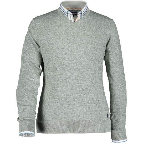 State of Art pullover ronde hals groen 10192-3736