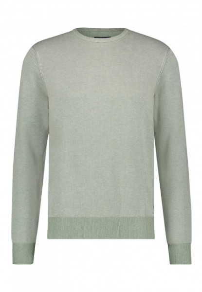State of Art pullover Jaquard ronde hals groen 11141