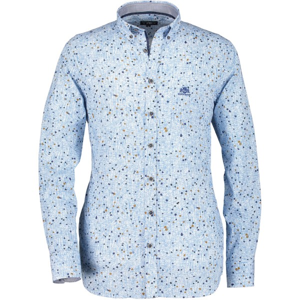 State of Art overhemd shirt print blauw 29853-5784