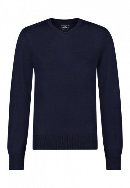 State of Art v-hals pullover blauw 20115