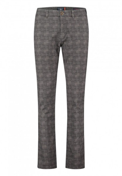 State of Art chino Silverstone stretch ruit antraciet 20434