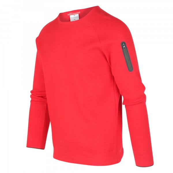 Blue Industry sweater ronde hals rood KBIW19-M17