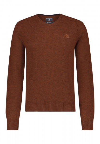 State of Art pullover v-hals wol roestbruin 20051
