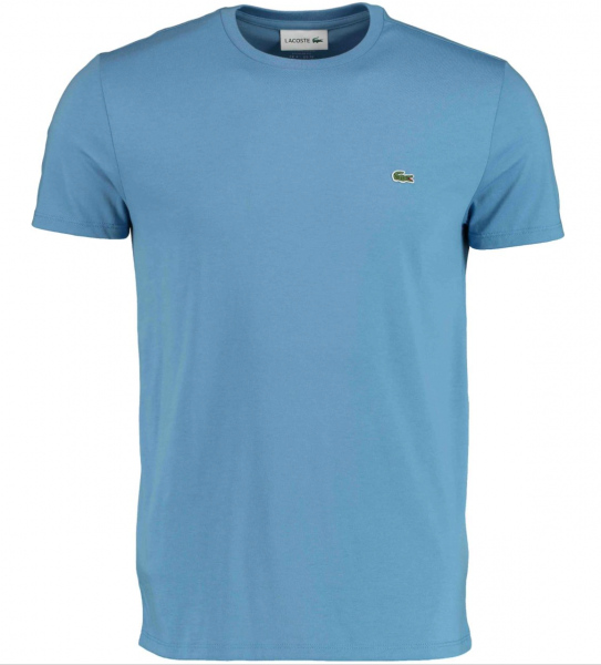 Lacoste t-shirt ronde hals logo jeansblauw th6709