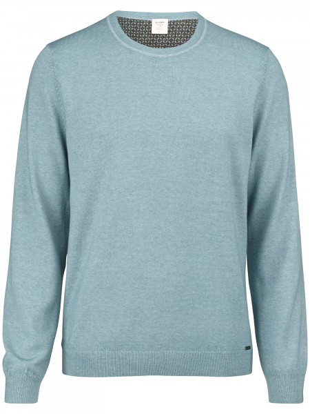 Olymp Level Five pullover body fit groen 535185