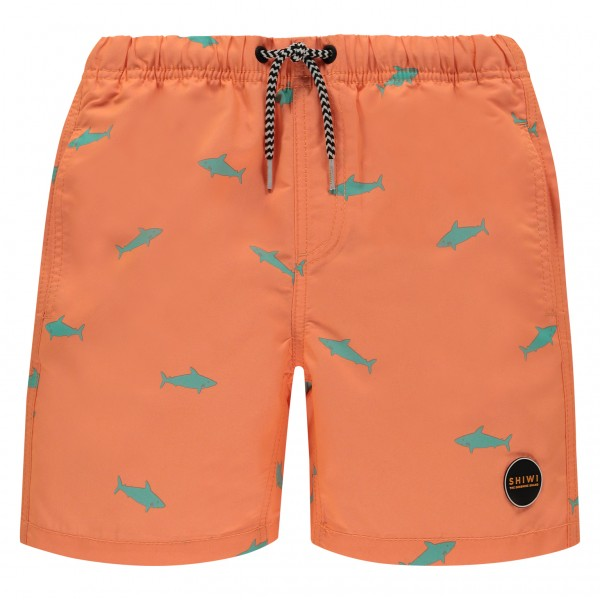 Shiwi zwemshort junior boys kids haai oranje 4292112161-209