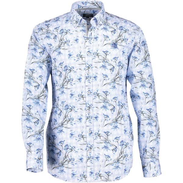 State of Art overhemd shirt print blauw 29132-3657