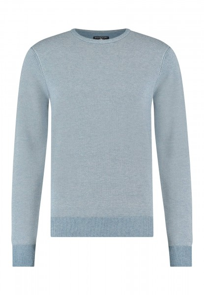 State of Art pullover Jaquard ronde hals blauw 11141
