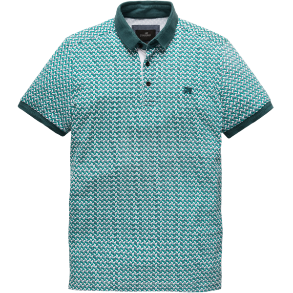 Vanguard polo korte mouw groen pique stretch VPSS191610