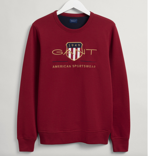 Gant Archive shield sweater rood 2046071