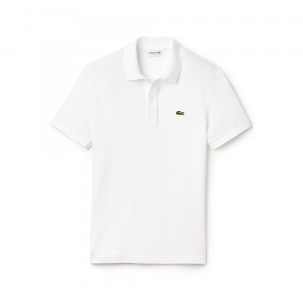 Lacoste polo Slim fit effen pique Wit PH4012