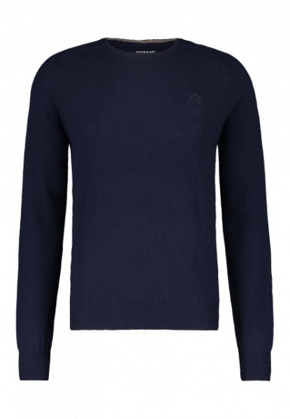 State of Art pullover ronde hals wol blauw 20050
