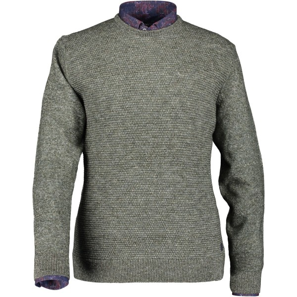State of Art pullover trui ronde hals groen 29050-3936