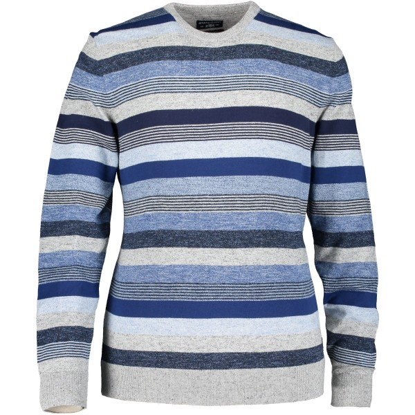 State of Art pullover ronde hals streep blauw 10189-9157