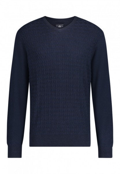 State of Art pullover v-hals blauw 20057