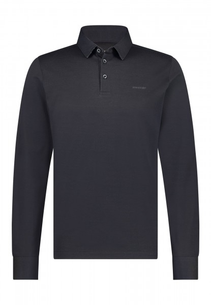 State of Art polo lange mouw regular fit blauw 41121328