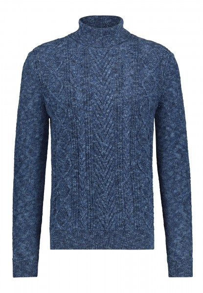 State of Art pullover coltrui kabel blauw 15121066