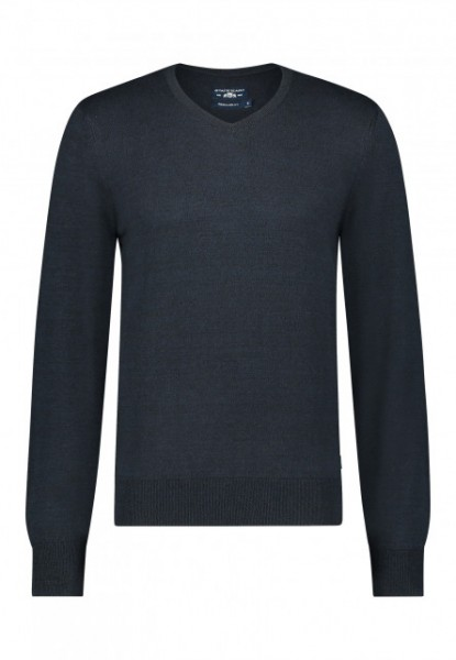 State of Art pullover v-hals blauw 20126