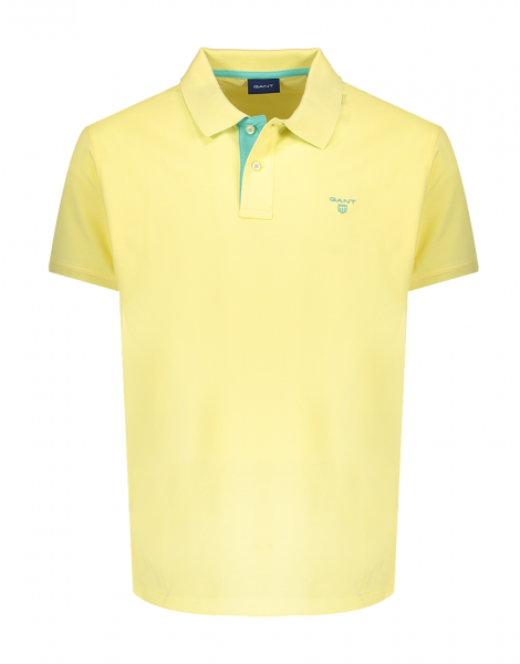 Gant polo korte mouw stretch Lemon 252105-732