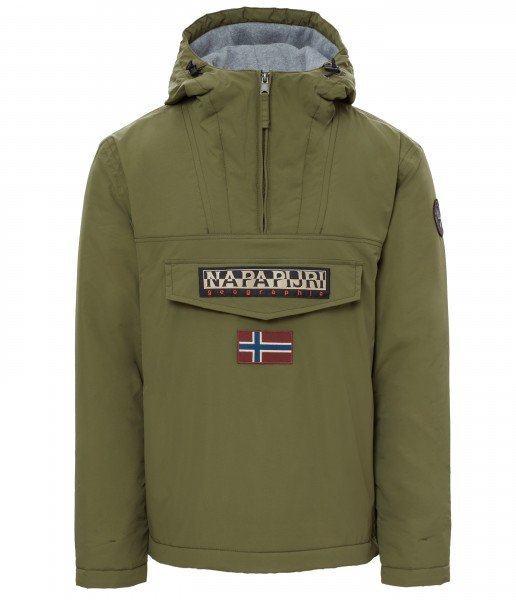 Napapijri Rainforest Anorak Jacket Green Musk