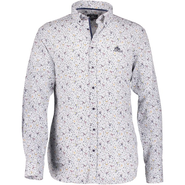 State of Art overhemd shirt print vogels 29214-6111