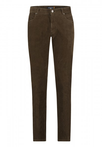 State of Art 5 pocket broek rib bruin 20429