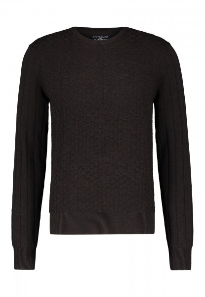 State of Art pullover regular fit structure bruin 20060