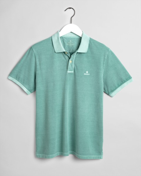 Gant polo korte mouw washed groen 2052028-351