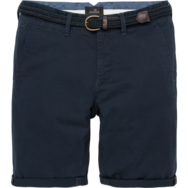 Vanguard short stretch met riem navy vsh194102-5287