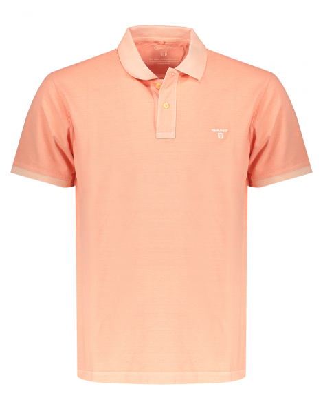 Gant polo korte mouw washed oranje 2052028-820