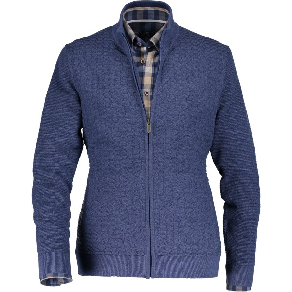 State of Art vest rits blauw 29056-5856