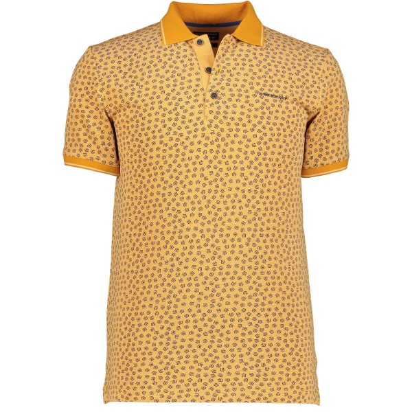 State of Art polo korte mouw print geel 10927