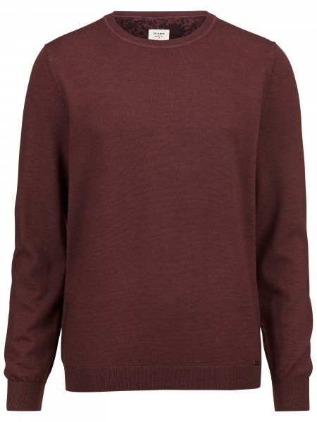 Olymp level 5 pullover washed merino rood 535165