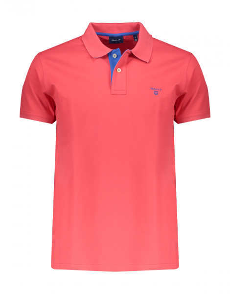 Gant polo korte mouw stretch. rood 252105 - 648
