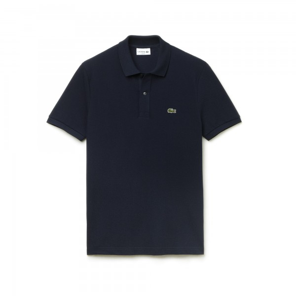 Lacoste polo Slim fit effen pique donkerblauw PH4012
